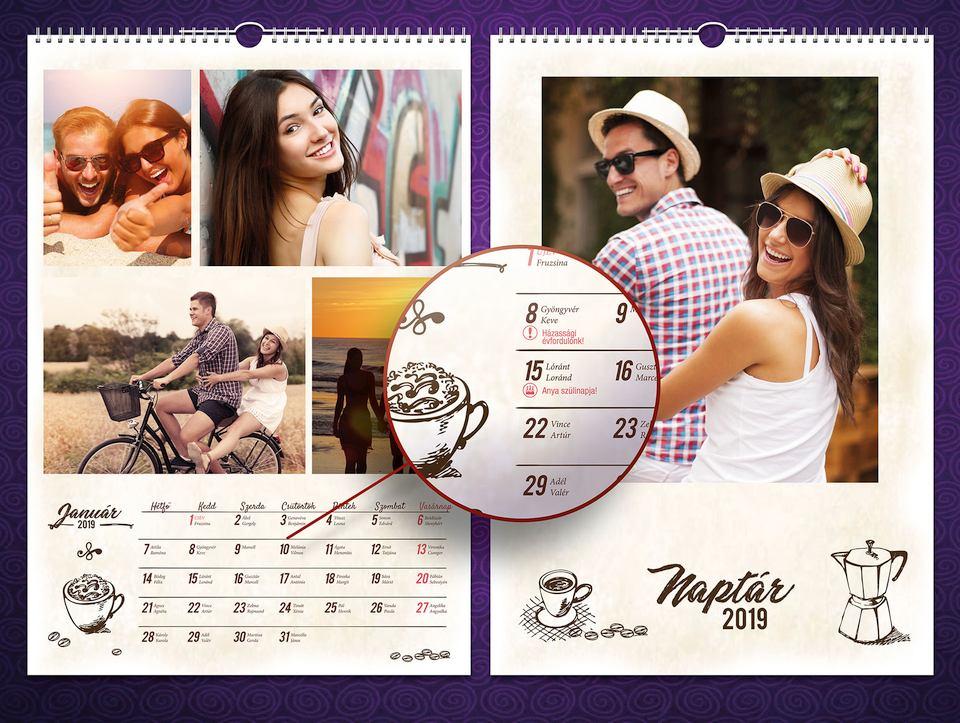 egyedi fényképes naptár kupon XXXL naptár   DigiNyomda egyedi fényképes naptár kupon